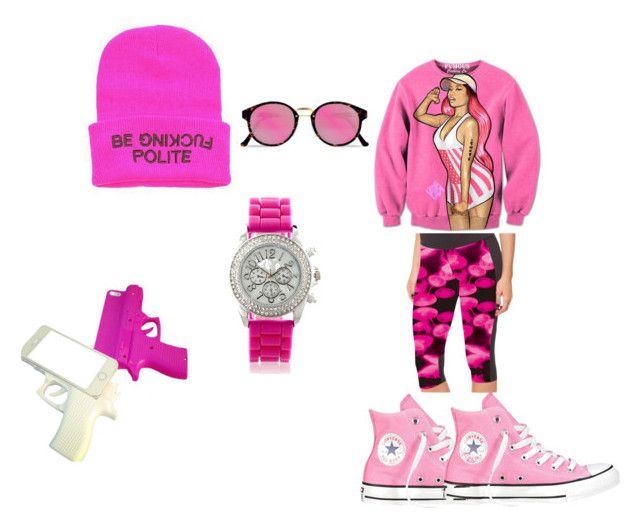 """pinkie"" by mumuliberho on Polyvore featuring mode, Converse, Nicki Minaj, RetroSuperFuture et Avenue"