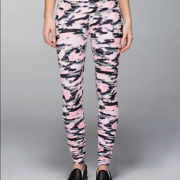Lululemon Pink Camo Leggings Camo Leggings Pants For Women Under Pants