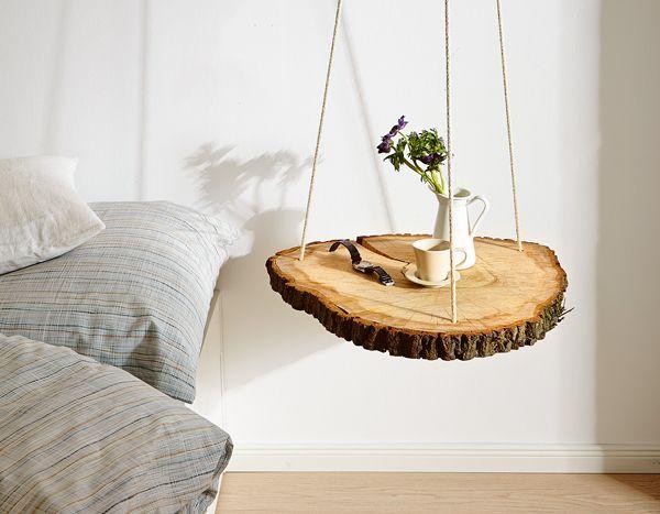 Anmutig und natürlich: So baust du einen schwebenden Nachttisch für dein Schlafzimmer!