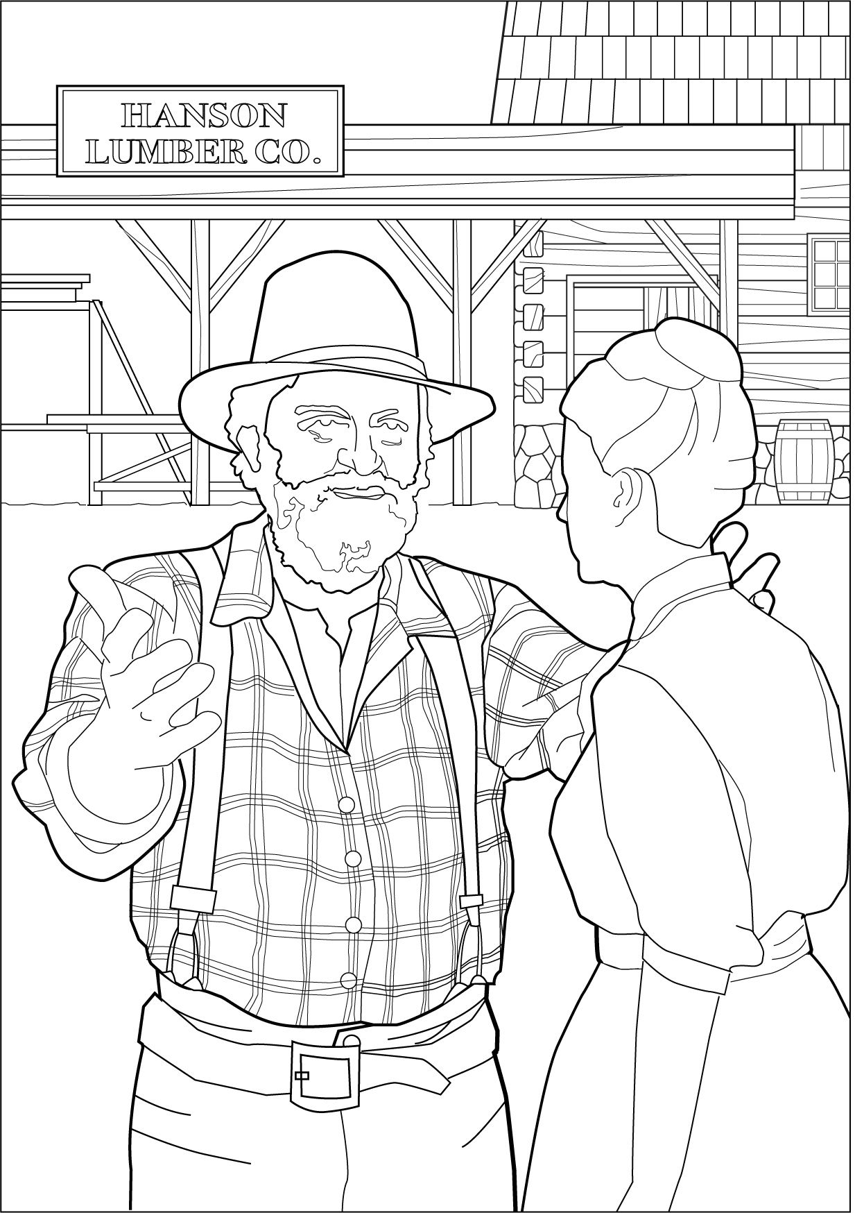 Mr Edwards Coloring Page Little House On The Prairie Coloring Pages Christmas Coloring Pages School Coloring Pages