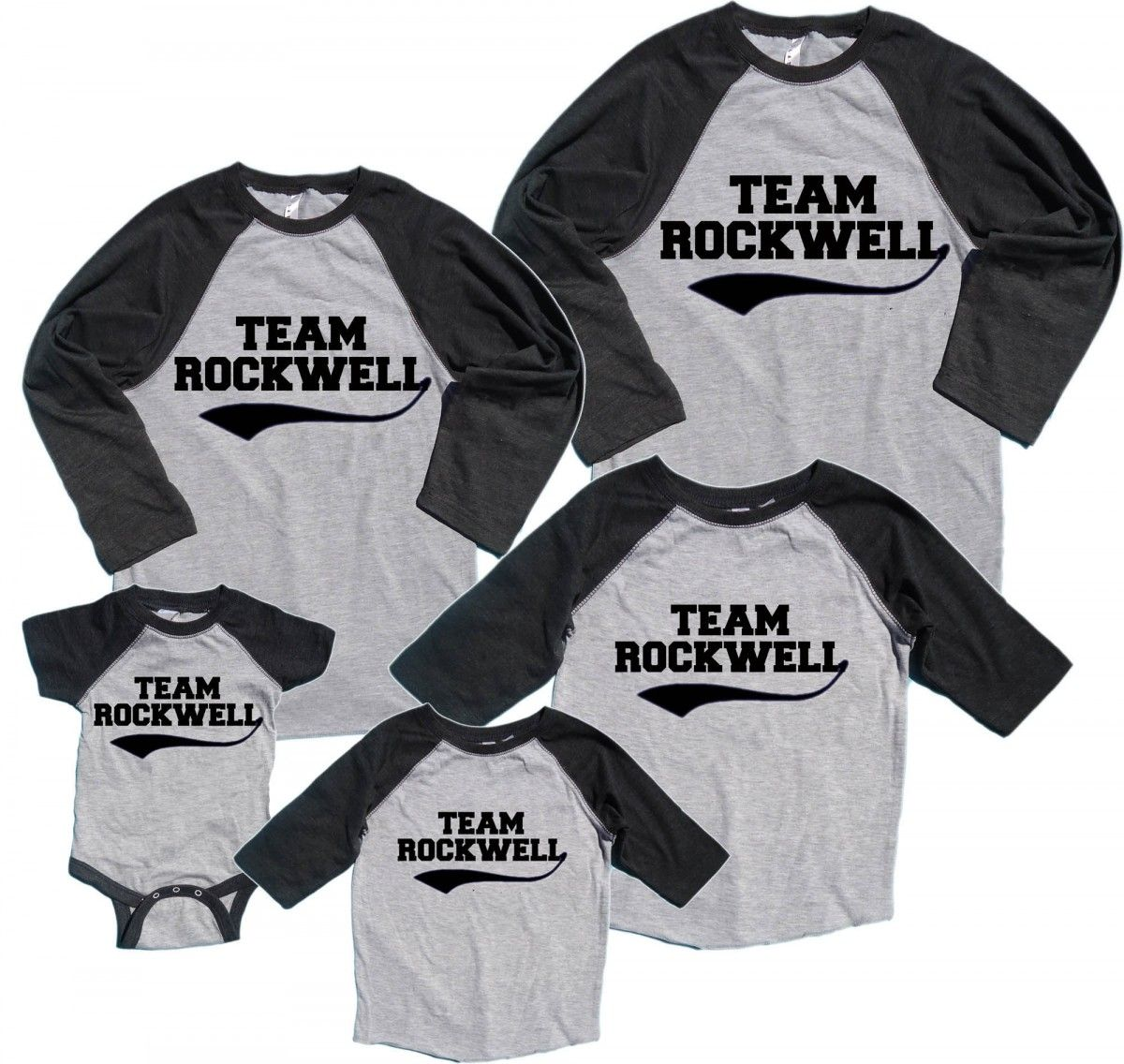 personalized family name number matching baseball shirts footsteps clothing