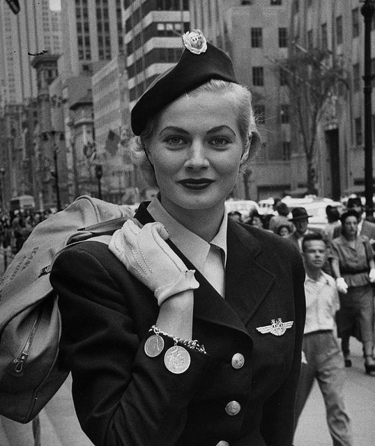 Anita Ekberg 1951 Anita Ekberg Flight Attendant Uniform Flight Attendant