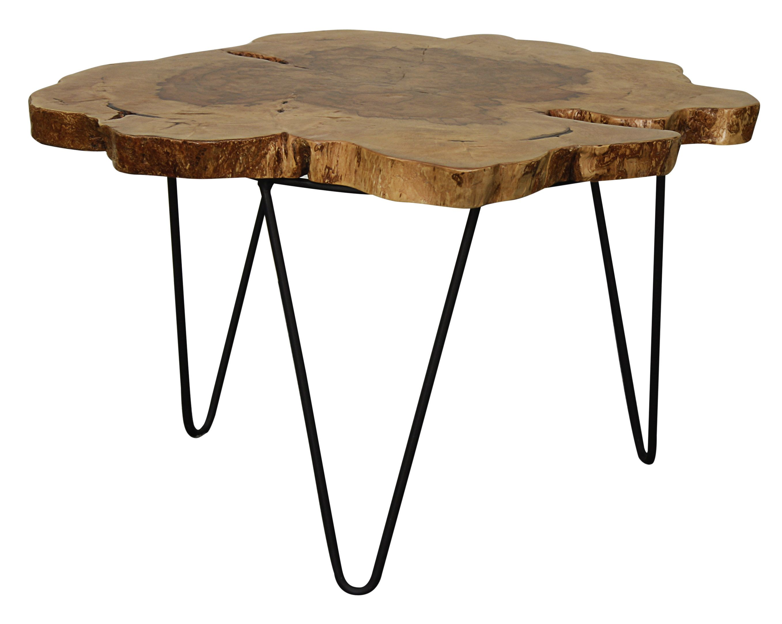"Tress 24"" coffee table in natural color Made from Longan wood"