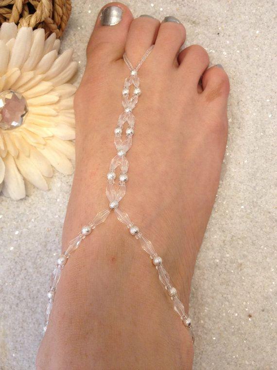 Beach wedding jewelry ideas Destination wedding barefoot sandals by