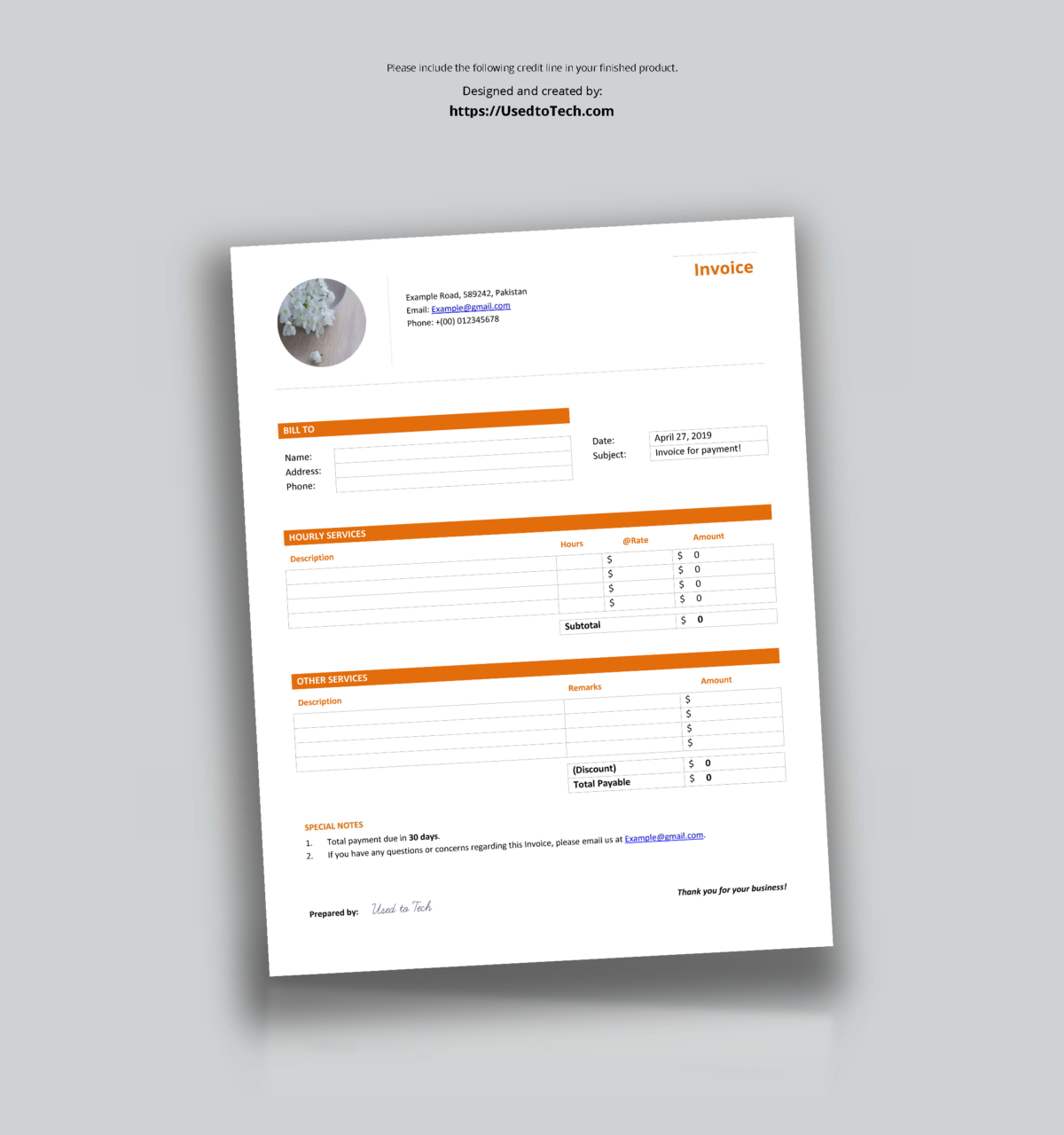 Professional Looking Free Invoice Template In Word Used With Regard To Header Templates For Word Invoice Template Words Business Template