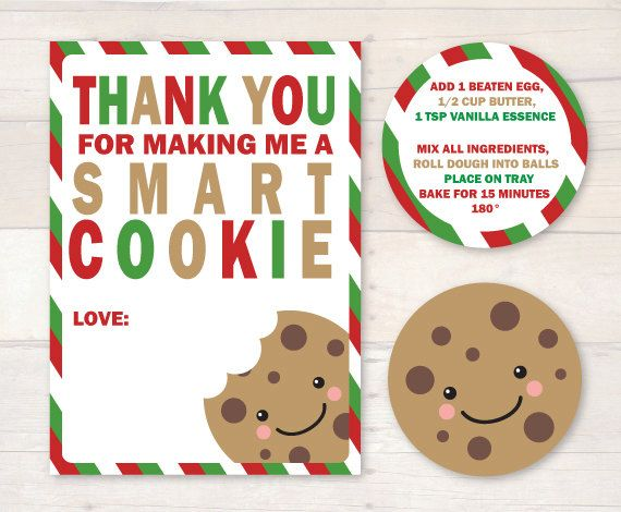 graphic about Thanks for Making Me One Smart Cookie Free Printable known as 1 Wise Cookie - Household Cookies