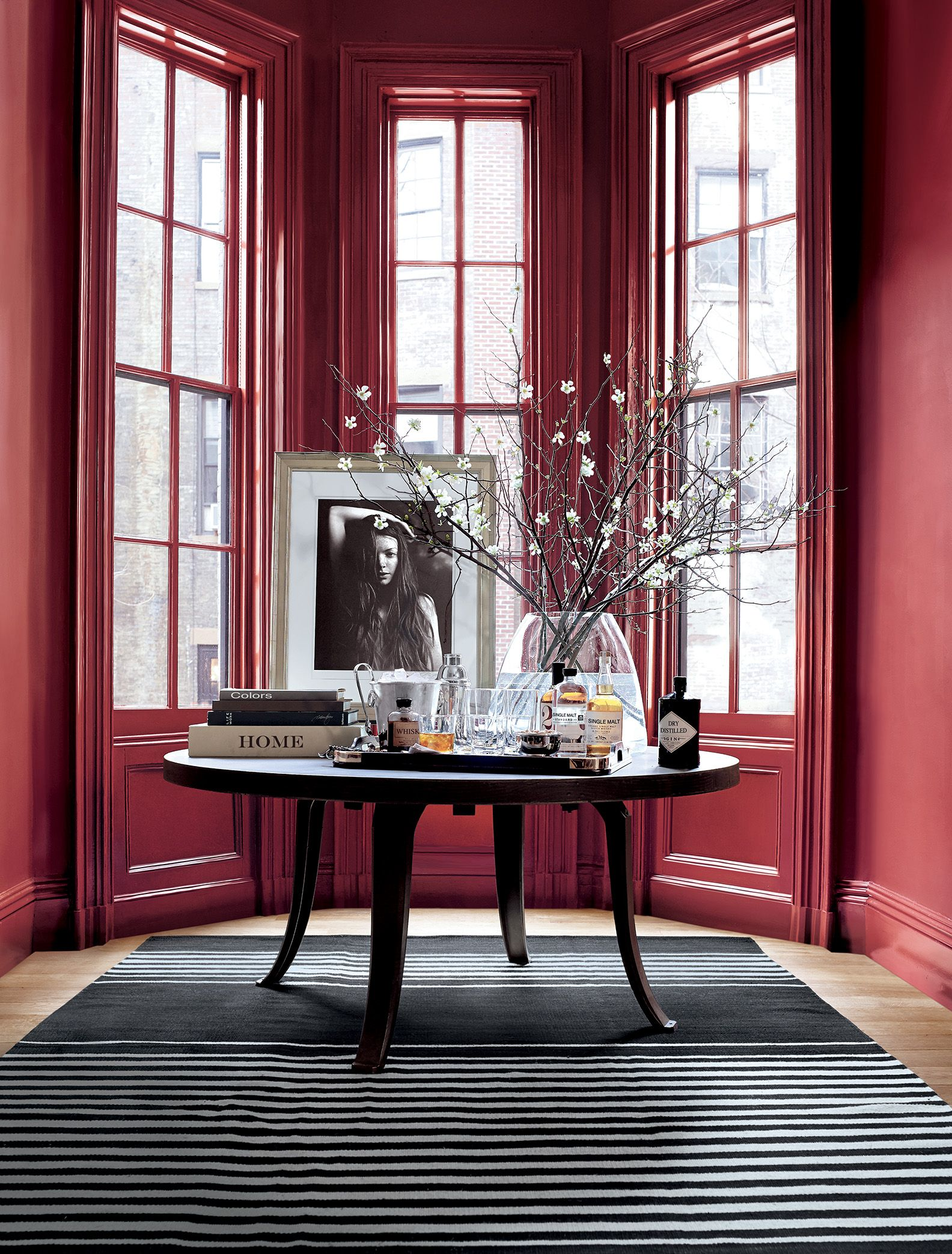 Ralph Lauren Paint Townhouse red grounds a bay window in ...