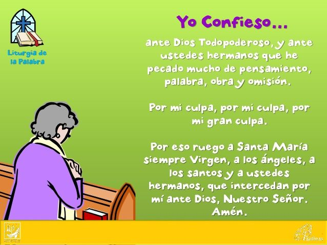 Image Result For Oracion Yo Confieso Para Niños Oraciones