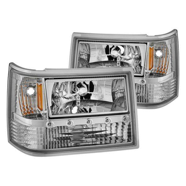 Spyder Chrome Led Euro Headlights Jeep Zj Headlights Spyder
