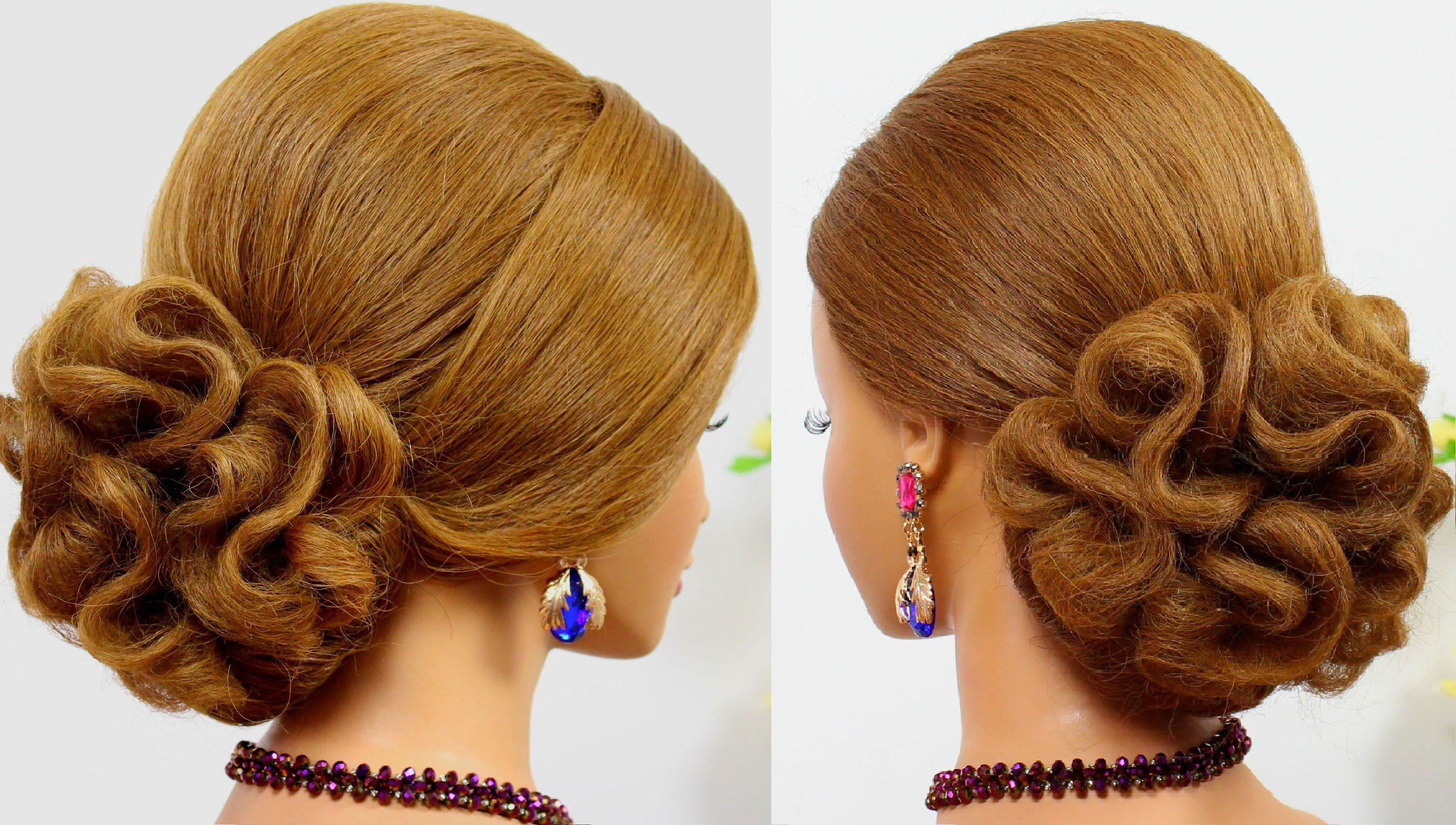 Updo Hairstyles Wedding Prom Hairstyles For Medium Hair Bridal Hairstyles Hair Tutorial Prom Hair Medium Medium Hair Styles