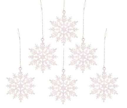 2 Glitter Irridescent Glitter Snowflakes - Pkg 6