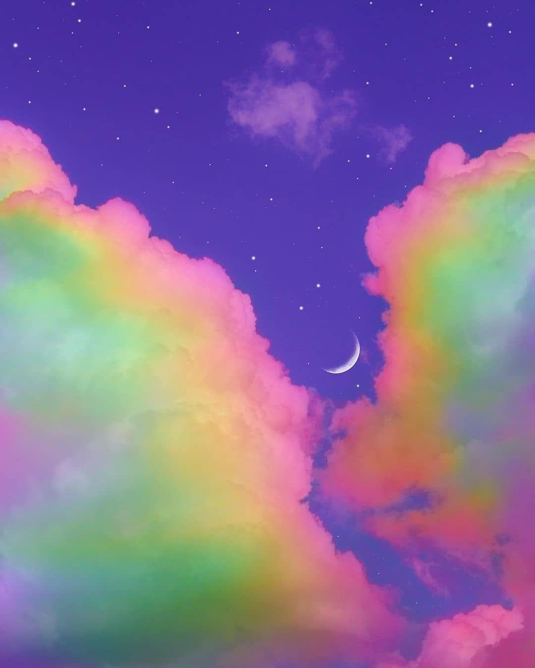Aesthetics On Instagram Follow Lofi Aesthetics For More Pics Like This Credits Y Rainbow Aesthetic Rainbow Wallpaper Art Collage Wall