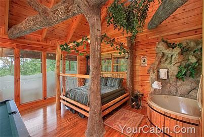 The Tree House 1 Bedroom Cabin Rental Tennessee Cabins Gatlinburg Cabins Tree House