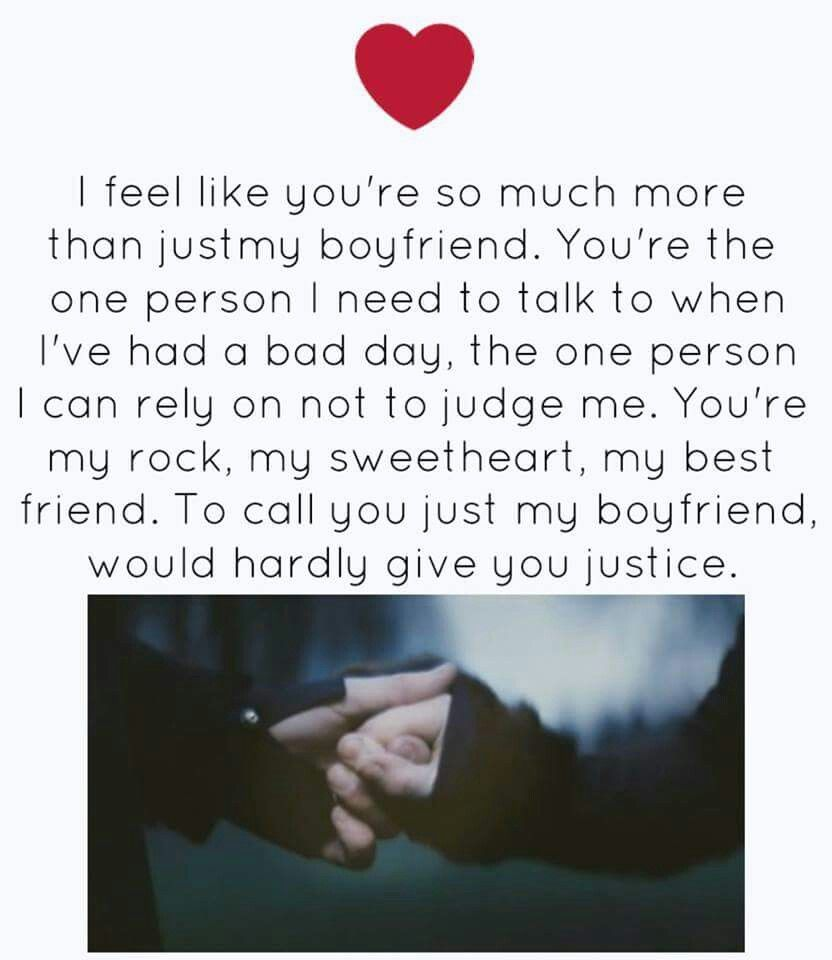 I'm more than your boyfriend | Us | Sweet love quotes, Heart