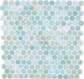 Dynamic Surfaces Pool Circles Ocean Frosted Green Gl Tiles