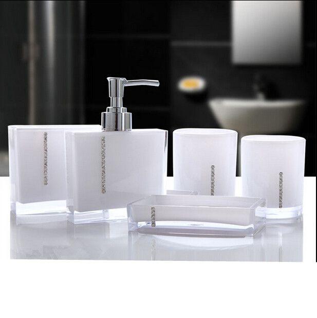 Acrylic Soap Dish Dispenser Bathroom Accessories