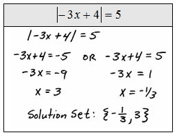 Apply the usual steps for solving to obtain the absolute