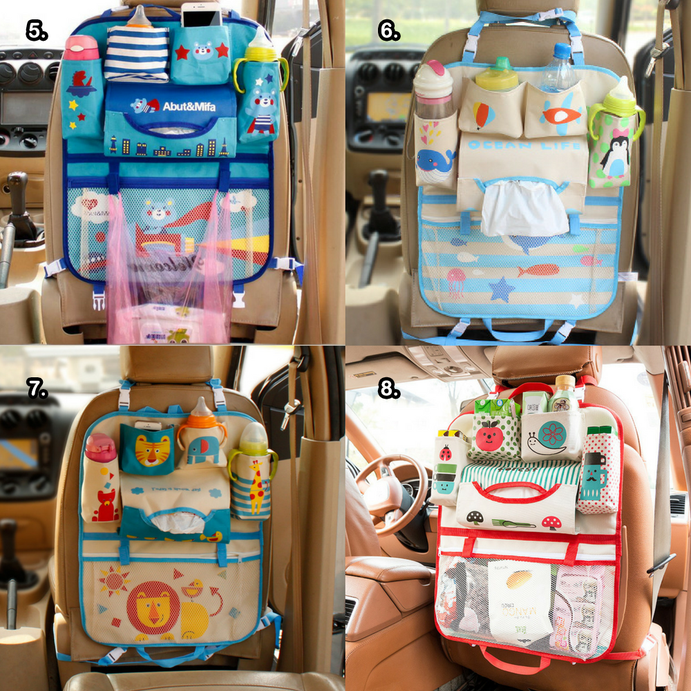 New Cartoon Car Seat Back Organizer Car seat, Aksesoris