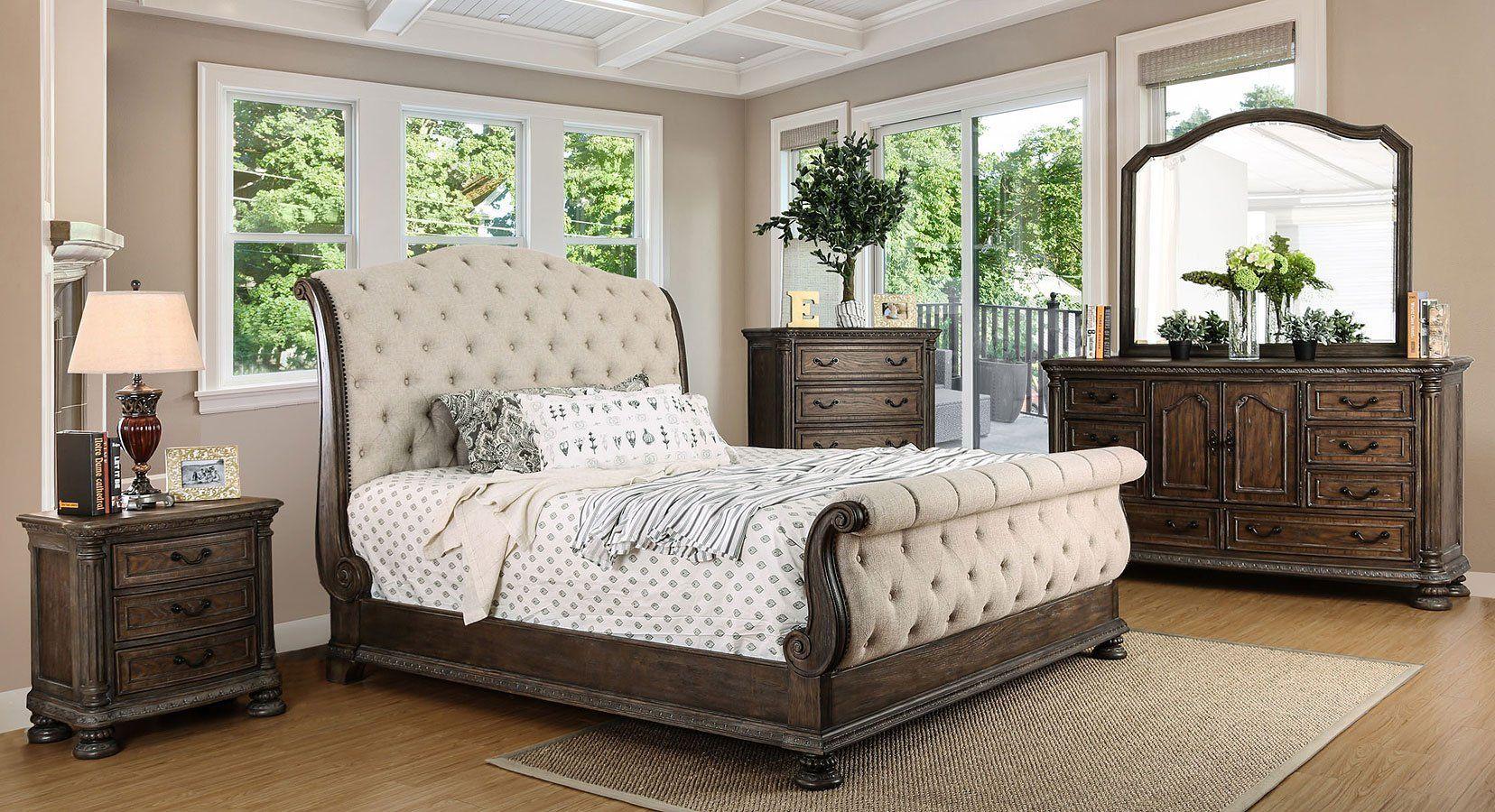 Lysandra Sleigh Bedroom Set Sleigh bedroom set, Bed