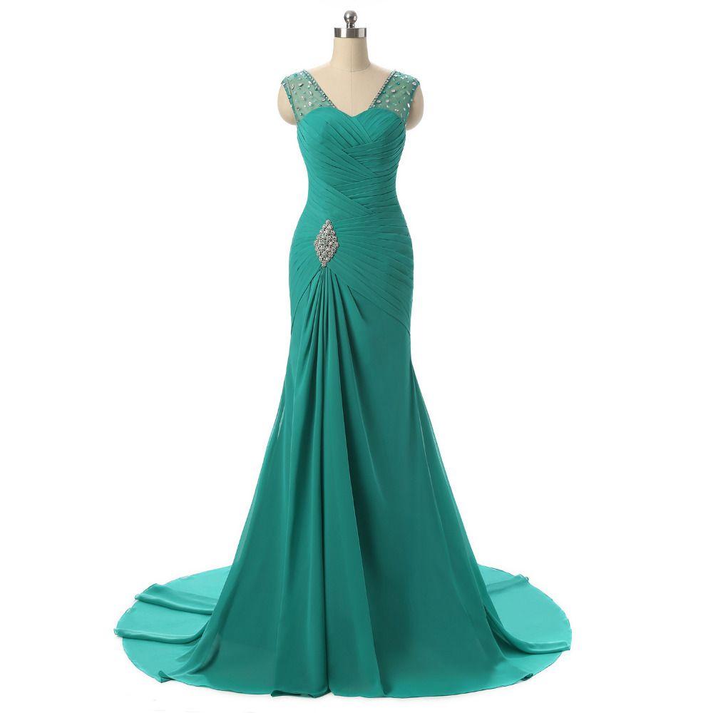 Royal Blue Red Black Mermaid Prom Dresses Luxury Floor Length Party ...