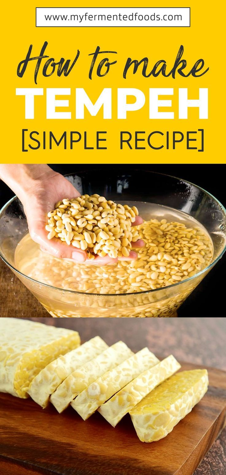 How To Make Tempeh At Home My Fermented Foods Recipe Food Fermented Foods Recipes