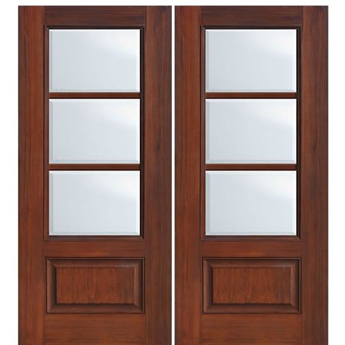 1 Panel 3 Lite Sdl Horizontal 2 Fiberglass French Doors French Doors Fiberglass Exterior Doors
