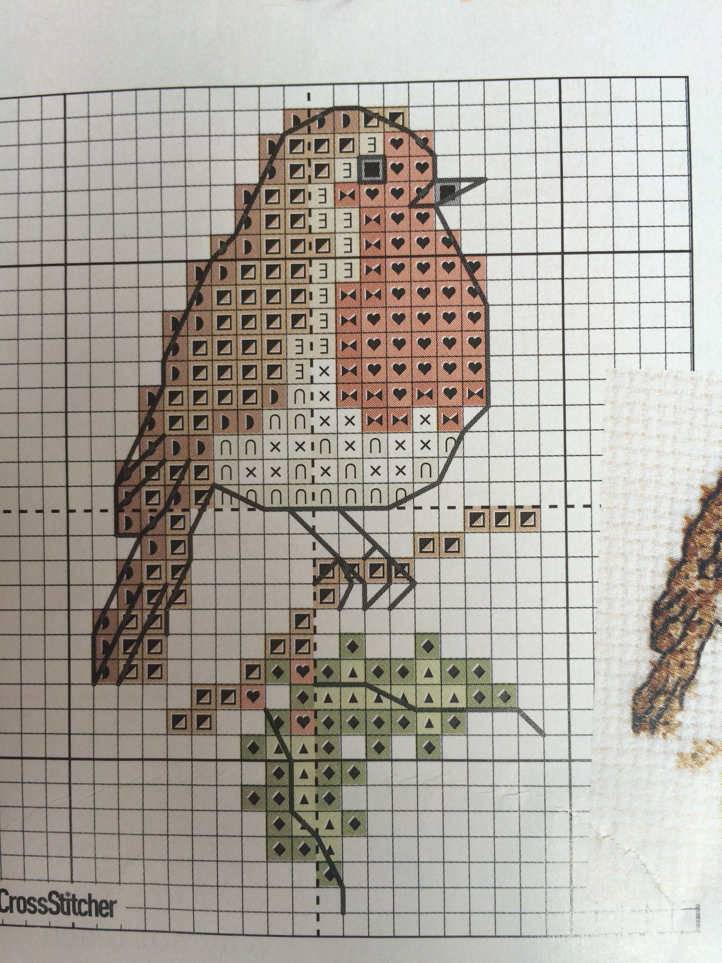 Cross Stitch Kit Christmas Robin Easy DIY Embroidery Geometric Design Great Craft or Gift