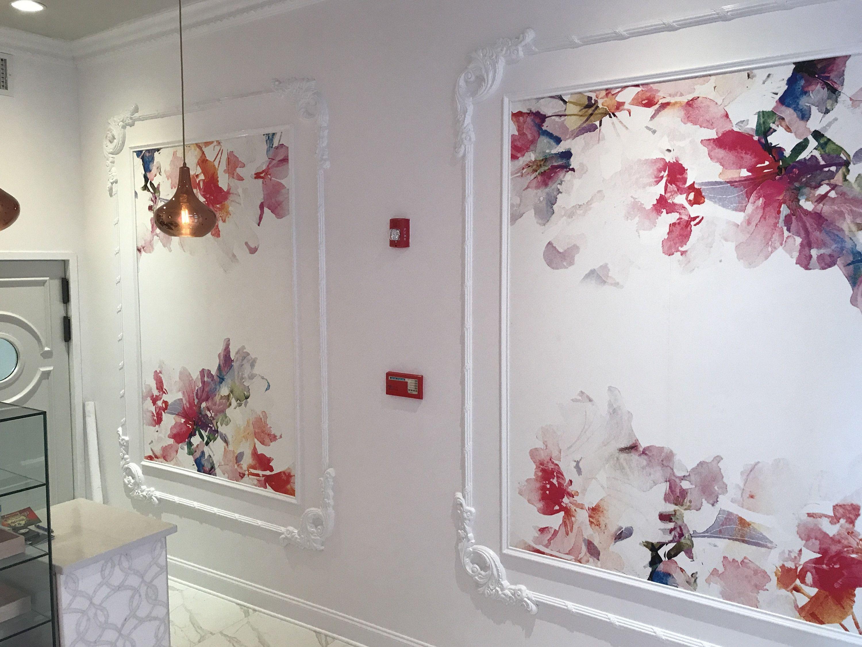 Baby Girl Nursery Wallpaper Peel & Stick, Pink Floral