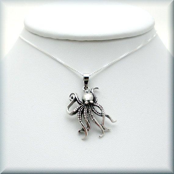 Silver Octopus ring Ocean ring Beach Jewelry Marine Jewelry Minimalist Octopus  Summer Jewelry