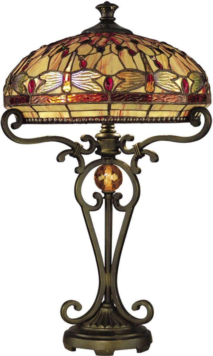 0 022306 24 H Dragonfly 2 Light Tiffany Table Lamp Antique Golden Sand Room Lamp Tiffany Table Lamps Table Lamp