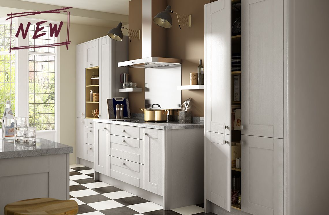 Sherwood Benchmarx kitchen, Contemporary grey kitchen