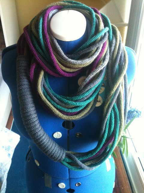 French Knitting Scarf : Punnik scarf by unexpecta using french knitting