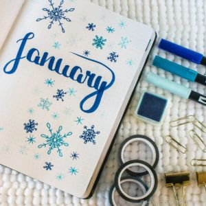 Winter Themes for your Bullet Journal + 6 Cover Page Ideas! -