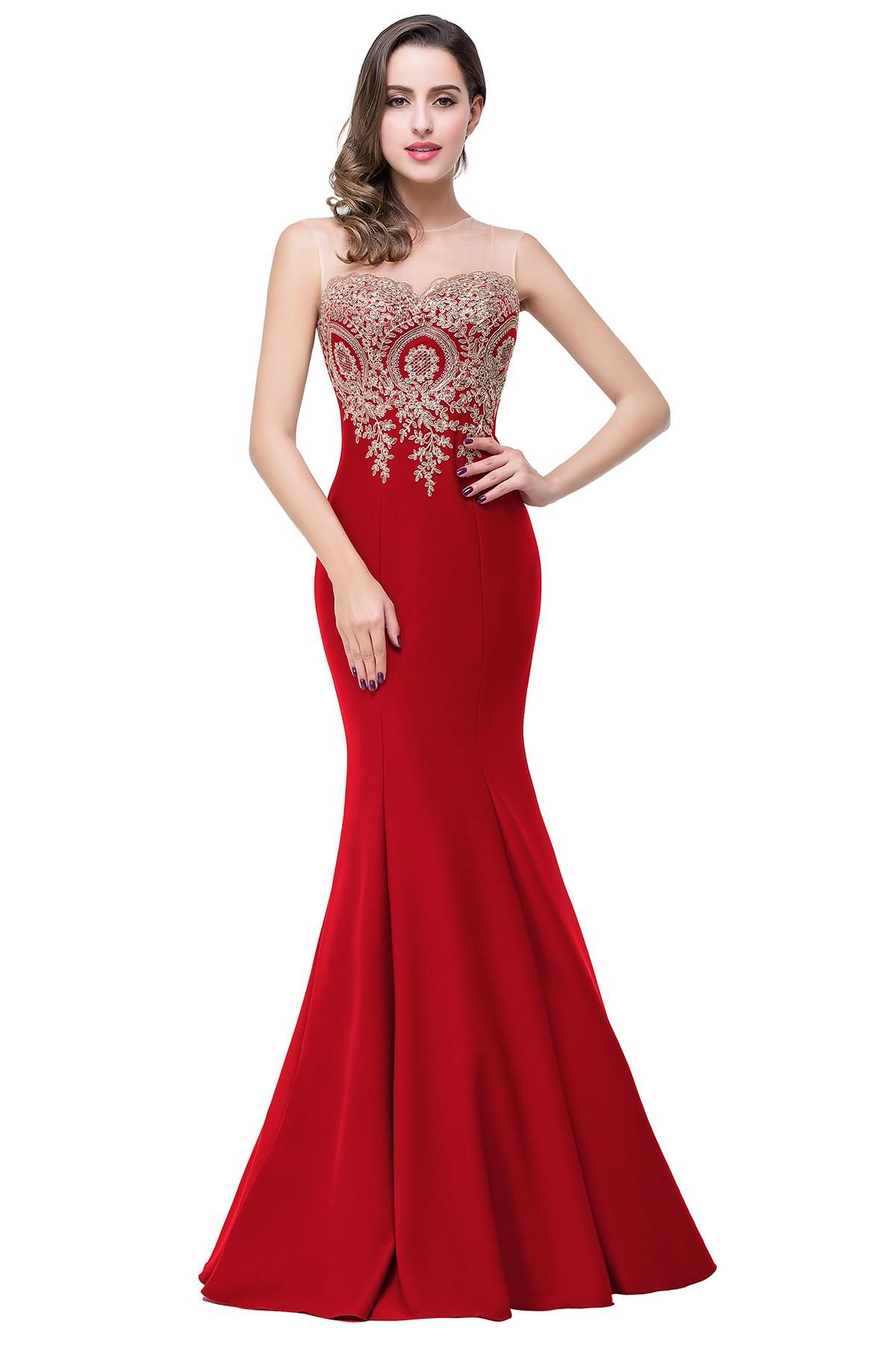 866b5591b0 Sexy Sheer Neck Sleeveless Designer Evening Dresses Mermaid Lace ...