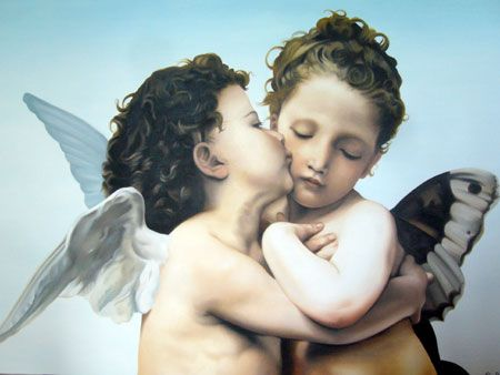 Image result for il primo bacio painting