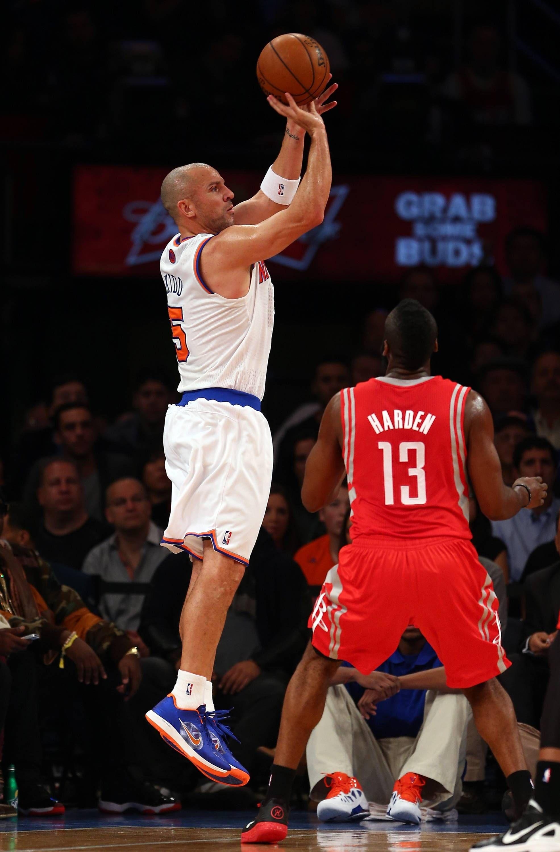 A Jason Kidd Jumper Off James Harden S Token Defense Houston Rockets New York Knicks December 17 2012 Basketball Clothes Jason Kidd New York Basketball