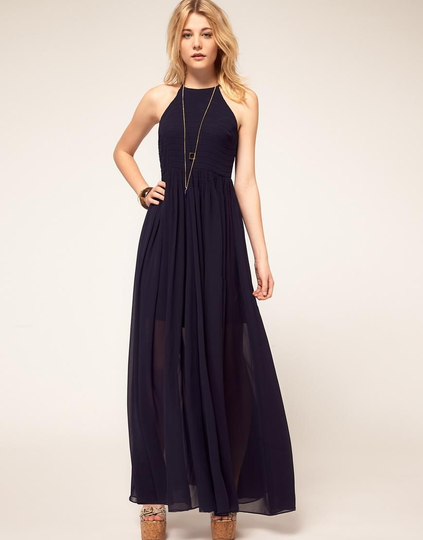 b19a439d0e French Connection   French Connection Halter Maxi Dress at ASOS ...