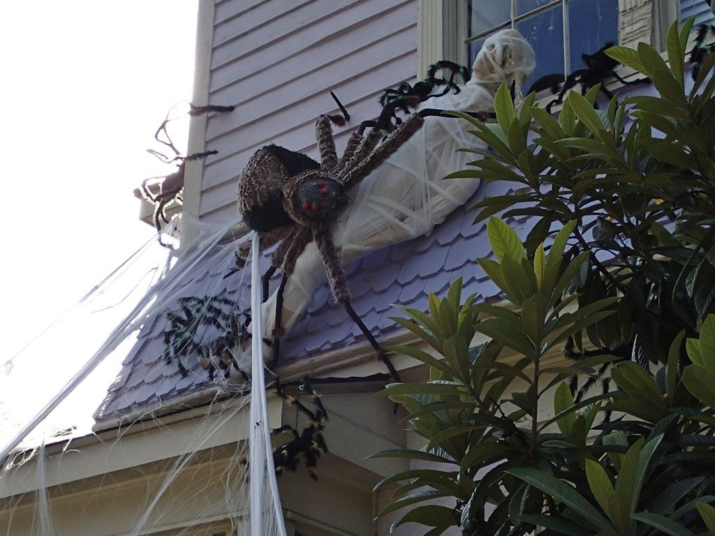 Diy Giant Spider Decoration Google Search Spider Web Decoration Halloween Spider Web Web Decoration