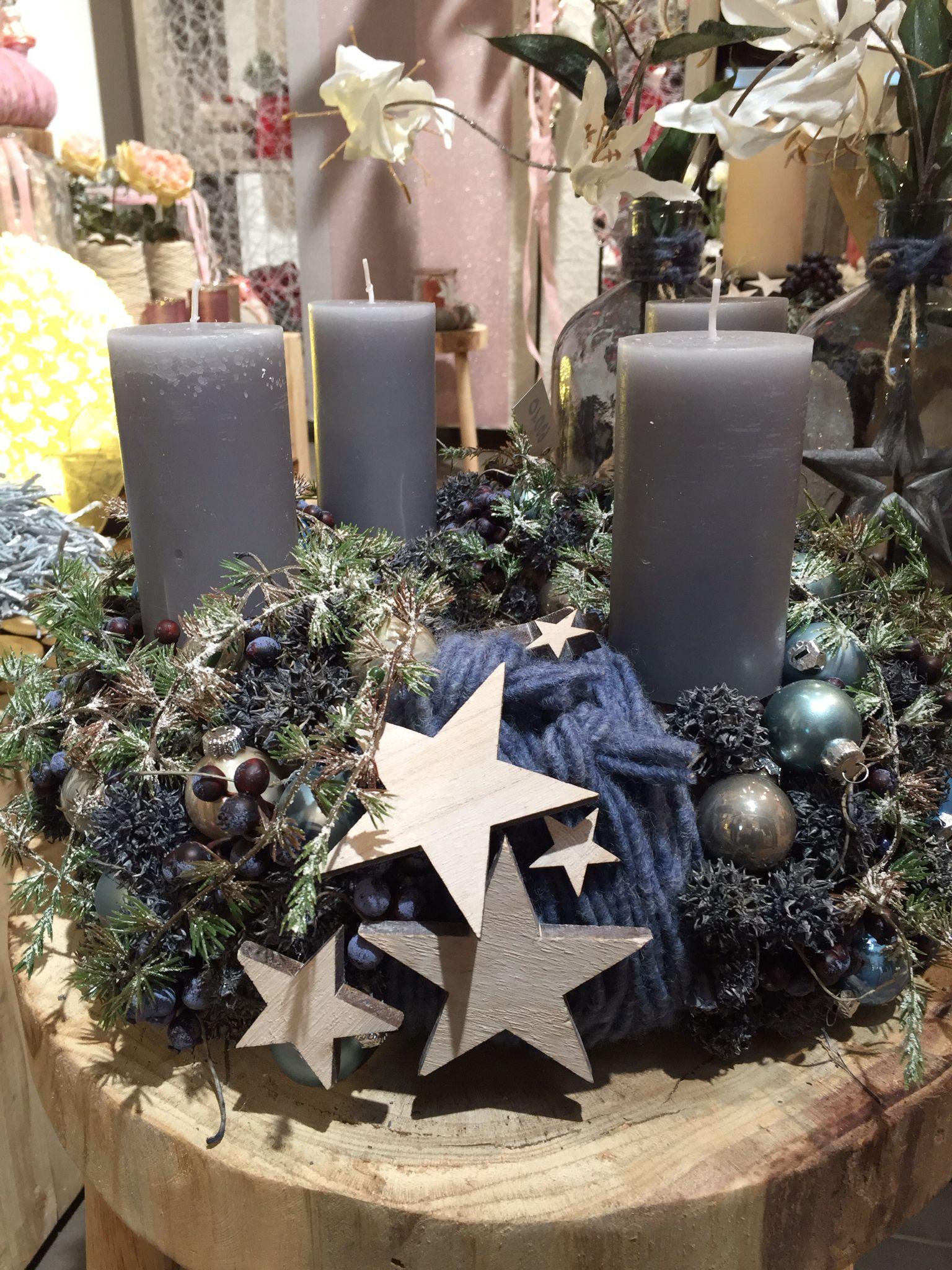 adventskranz adventskr nze natur rustikale weihnachten. Black Bedroom Furniture Sets. Home Design Ideas
