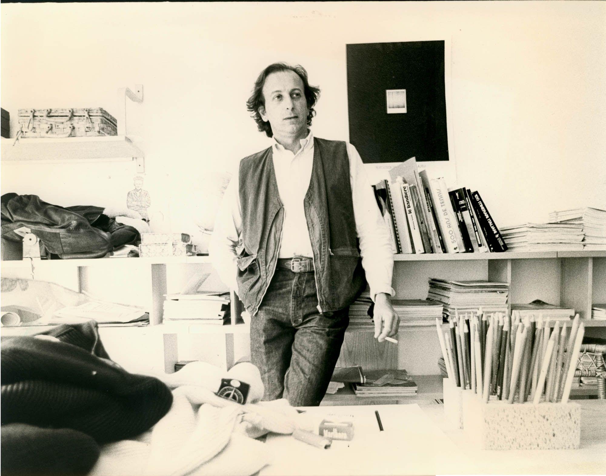 Massimo Osti in his studio, 1983