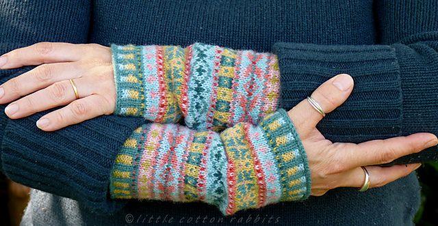 Ravelry: Fair Isle Cuffs pattern by little cotton rabbits, Julie ...