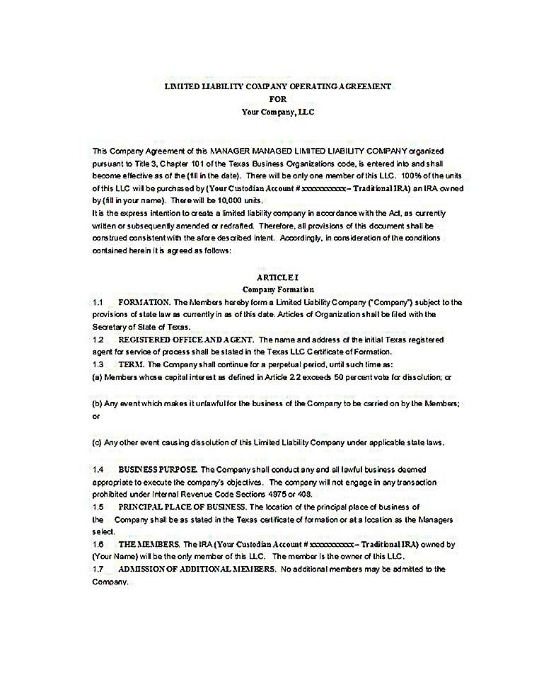 sample llc operating agreement , 23+ LLC Operating Agreement - sample consulting agreement