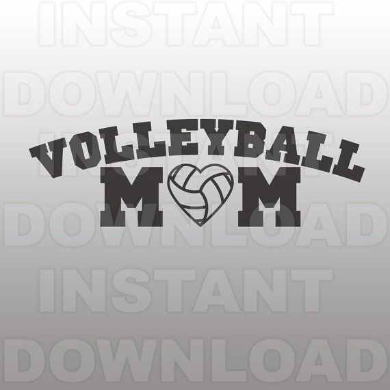 Volleyball Mom SVG File,Volleyball SVG File-Cutting Template-Vector ...