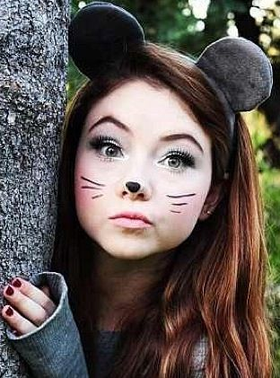Last Minute Mouse Costume Wear All Gray With Mouse Ears!! | Make-up | Pinterest | Mouse Costume ...