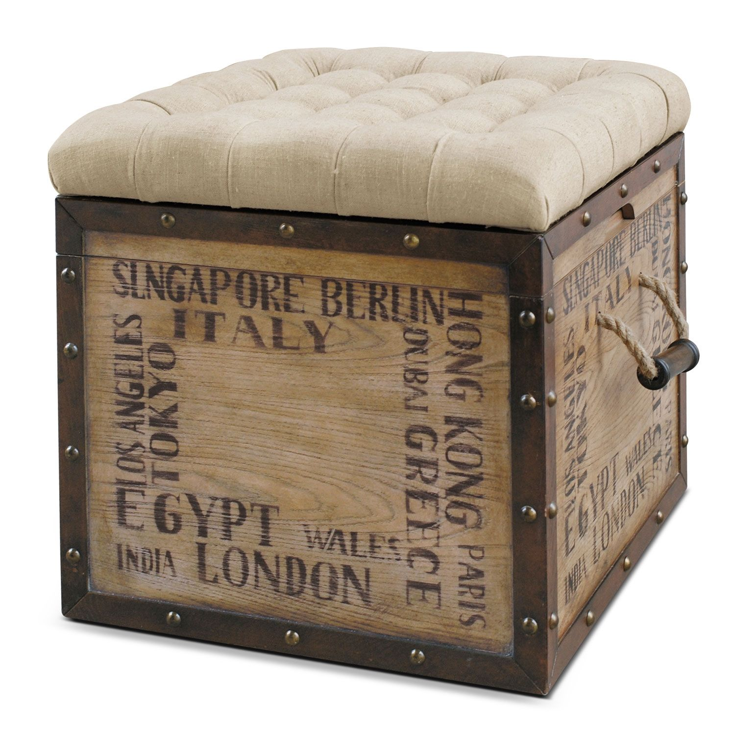 Accent And Occasional Furniture Teca Storage Cube Ottoman