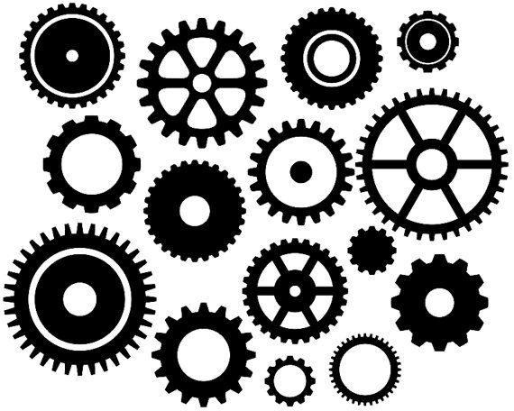 Steampunk Gears Clip Art Black Gears Silhouette Clip Art Sprocket Clip Art Cogwheel Digital Clip Art Clip Art Instant Download Ydc071 Clip Art Silhouette Clip Art Digital Clip Art