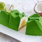 Bûche légère noix de coco et sudachi (ou citron) -