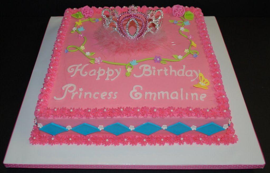 Pin Princess Tiara Birthday Cake This Is A 12 Square Sheet