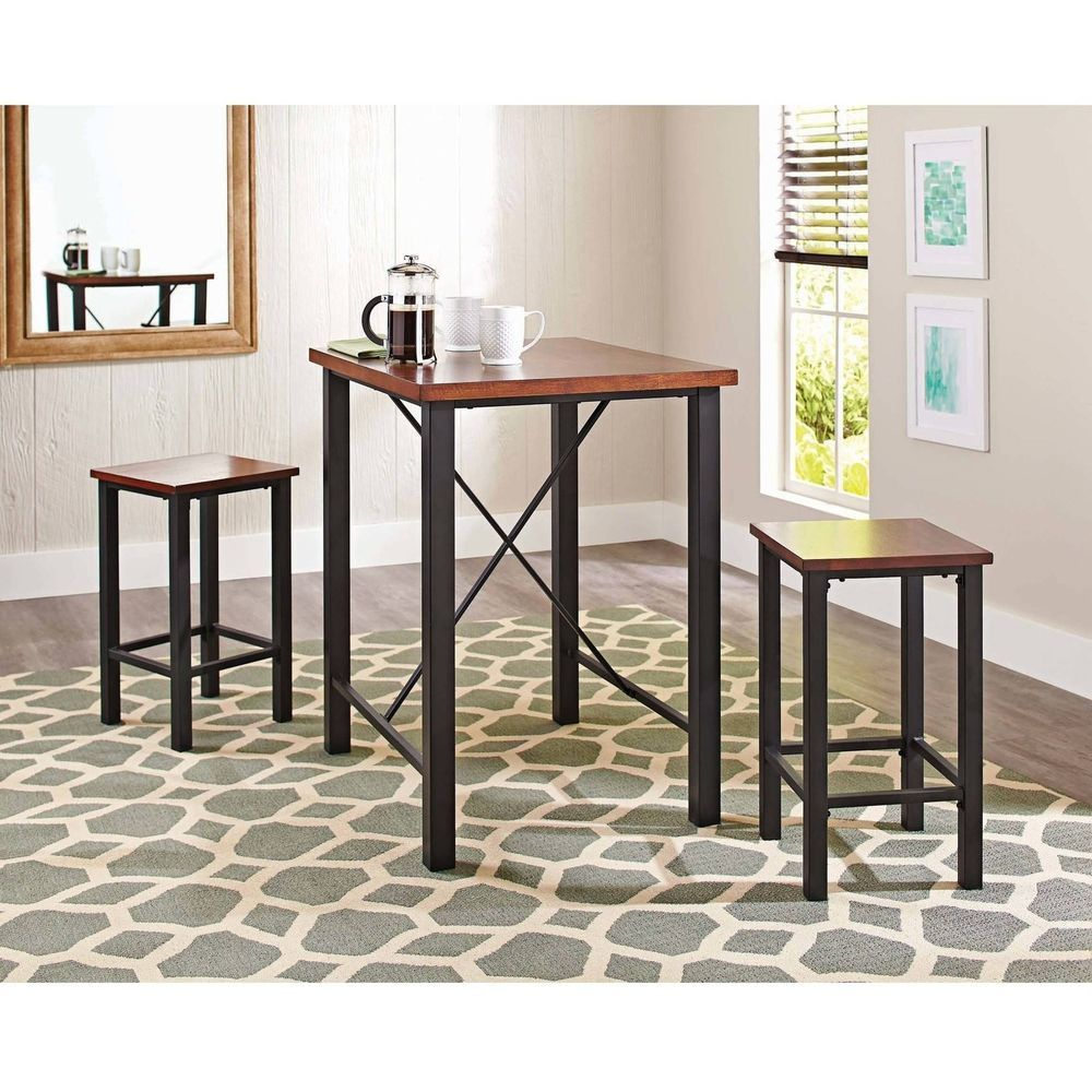Dinette Sets For Small Spaces Pub Table Set 3 Piece Inspiration Dining Room Table Sets For Small Spaces Review