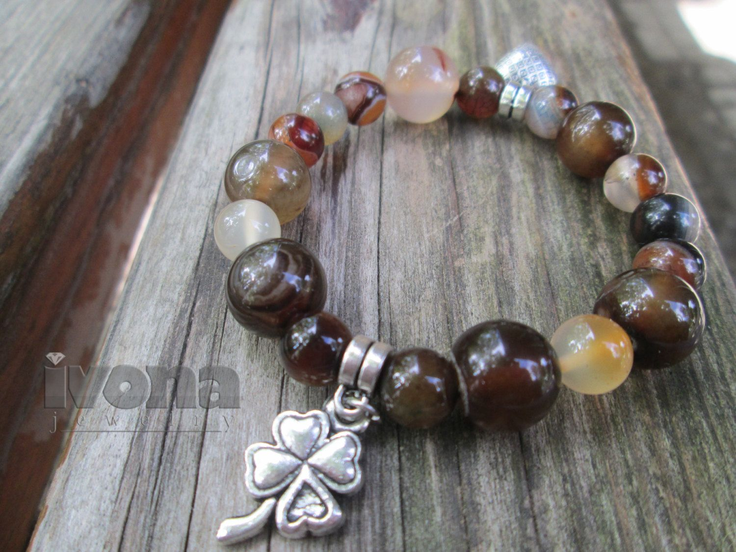 Ladies and young girls gemstone bracelet agate quartz gift for